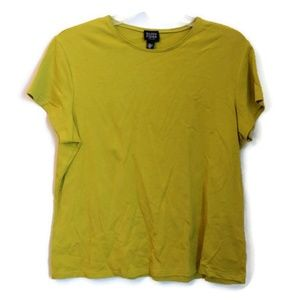 Eileen Fisher Petite  Yellow Chartreuse T-Shirt